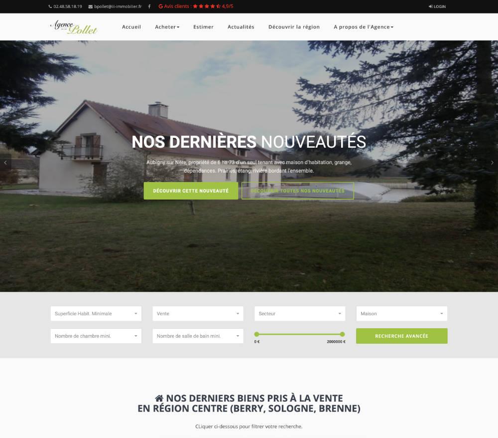site de l'agence Pollet