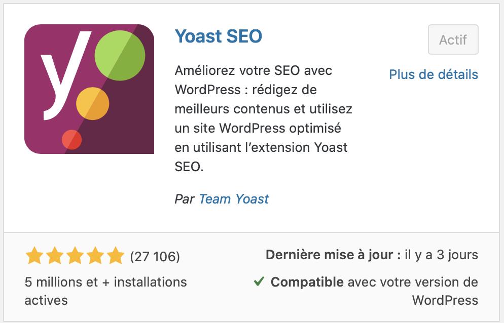 Yoast SEO améliorer votre SEO avec WordPress